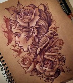 Marked for Life: Tattoos and Gangs – Life ideas Tattoo Girls, Tattoo Designs For Girls, Girl Tattoos, Tatoos, Cool Sketches, Tattoo Sketches, Tattoo Drawings, Art Drawings, Backpiece Tattoo