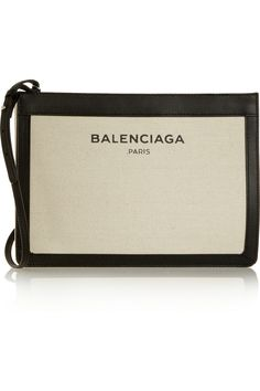 BalenciagaLeather-trimmed cotton-canvas shoulder bag -Again, I love Balenciaga.