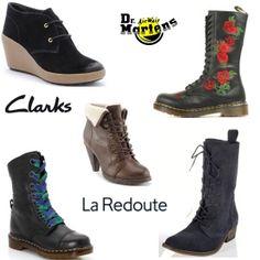 Soldes chaussures -70% bottines La Redoute, -30% Dr Martens