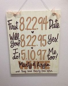 Custom HandPainted Wedding Anniversary by WhatchawantDesign, $50.00 Could be an easy DIY wedding/anniversary gift.