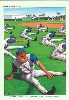 "Reader's Digest back cover, March 2005  ""Spring Training"" illustration: C.F. Payne"