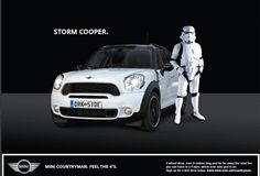 "From pin: ""Storm Cooper. (Mini has some of the BEST ads of any carmaker out there)"" Mini Cooper Clubman, Mini Countryman, Mini Cooper S, Convertible, Automobile, John Cooper Works, Think Small, Morris, Great Ads"