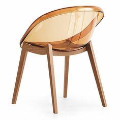 Calligaris Bloom Chair w/ Wood Legs