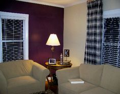Living Room Wall Colors - The room will seem more open and have good air in order to make the most of the effect of pure light. The living room is among the Room Wall Colors, Living Room Decor Colors, Bedroom Paint Colors, Living Room Designs, Wall Colours, Wood Colors, Purple Living Room Paint, Accent Walls In Living Room, Purple Walls
