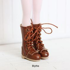 Blythe boots / DAL / Pullip / Momoko shoes British retro boots Brown
