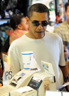 President Obama in Ray-Bans!