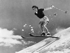 Hannah Locke Sun Valley skiing.  This was pretty racy in the 50's.  Look at that air:)  http://skiandboardbarn.com/
