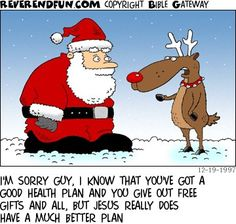 Even the reindeers are turning to Christ this year.