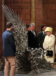 The Queen visited the Game Of Thrones set today. This is so funny.