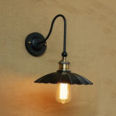 Black Shade Metal Industrial Wall Sconce (Bulbs not Included), Kiven Lighting - Online Shopping