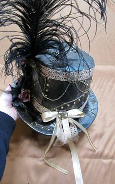 Steampunk diy #millinery #judithm #hats