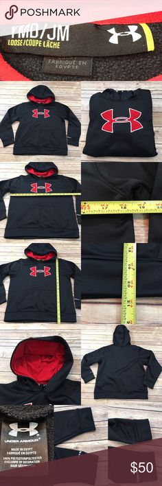💗YMD Medium Under Armour Boys Hoodie Sweatershirt Measurements are in photos. Normal wash wear, no flaws. C1/26  I do not comment to my buyers after purchases, do to their privacy. If you would like any reassurance after your purchase that I did receive your order, please feel free to comment on the listing and I will promptly respond. I ship everyday and I always package safely. Thanks! Under Armour Shirts & Tops Sweatshirts & Hoodies