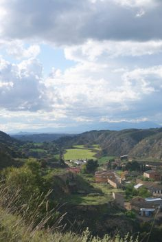 Vista panorámica del municipio. San Esteban de Litera (Huesca), La Litera, Aragón, Spain.