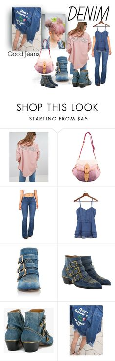 """""""2 tones head to toes"""" by caroline-buster-brown ❤ liked on Polyvore featuring Missguided, Louis Vuitton, Celebrity Pink, Chloé and alldenim"""