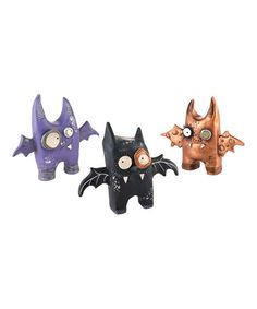 Another great find on #zulily! Punked Bat Figurine Set #zulilyfinds