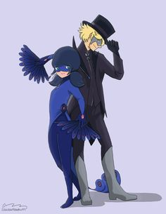 Meanwhile, in an Alternate Universe where Marinette and Adrien received the Peacock and Butterfly Miraculous...