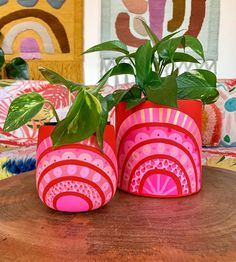 Painted Plant Pots, Painted Flower Pots, Diy And Crafts, Crafts For Kids, Arts And Crafts, Diy Planters, Garden Crafts, Boho Decor, Diy Room Decor