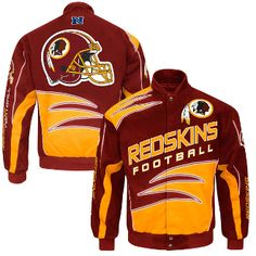 Washington Redskins Burgundy Shred Cotton Twill Jacket. Buy From . >>> bjsportstore.com