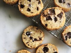 Alison Roman, the creator of the cookies, combined the best things about chocolate chip cookies and buttery shortbread.