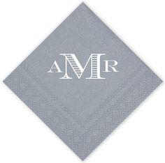 Luxe Monogram Wedding Napkins $35.00