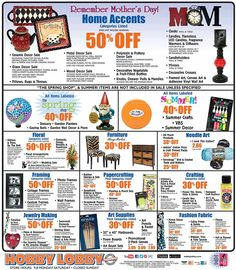See Hobby Lobby Black Friday ad and all sale info here. Hobby Lobby will be closed Thanksgiving Day but you can shop for Black Friday deals online from Thursday, November