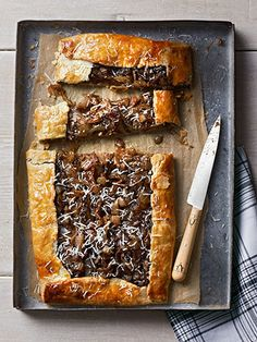 Caramelized Onion Galette: Dijon mustard adds a tangy kick to this savory pastry.