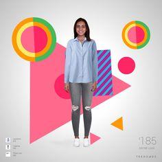 Traje de moda hecho por Mayra usando ropa de Topshop, Landsend, Finish Line. Estilo hecho en Trendage