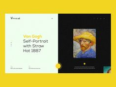 Van Gogh Portraits by Nicholas Ødegaard - Dribbble Website Design Layout, Web Layout, Interaction Design, Van Gogh Portraits, Van Gogh Self Portrait, Web Design School, Ui Design Inspiration, Ui Web, Print Layout