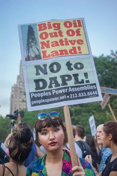 """""""Big Oil out of Native Land! - No to DAPL!"""" - Rally in solidarity with #StandingRock. #NoDAPL  Photo credit: Cindy Trinh"""