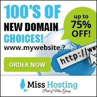 Miss Hosting (Part of Miss Group) offers a variety of hosting options such as traditional Web Hosting, Domain Registration, VPS, Dedicated Servers and SEO Hosting. Via their sister site Miss Domain they also offer Scandinavia's largest domain auction and can register domains worldwide. $0.00 USD