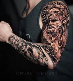 Lion Tattoo Sleeves, Best Sleeve Tattoos, Tattoo Sleeve Designs, Tattoo Designs Men, Sleeve Tattoo Men, Tribal Arm Tattoos, Arm Tattoos For Guys, Forearm Tattoo Men, Arm Band Tattoo