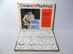 1969 Creative Playthings Perception Plaques Wooden Tiles Matching Game | eBay listing by hiddentreasureseverywhere