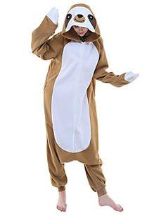 9981a703b9   29.99  Adults  Kigurumi Pajamas Cartoon Sloth Animal Onesie Pajamas Polar  Fleece Brown Cosplay For Men and Women Animal Sleepwear Cartoon Festival ...