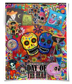 """""""Dia de Muertos"""" by fassionista ❤ liked on Polyvore featuring art"""