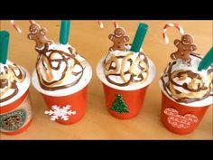 Starbucks Crafts, Starbucks Christmas, Christmas Mugs, Christmas Ornaments, Diy Ornaments, Starbucks Coffee, Candy Christmas Decorations, Christmas Crafts For Gifts, Homemade Christmas Gifts