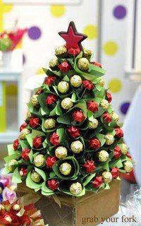how to make christmas tree chocolate bouquet ile ilgili görsel sonucu Christmas Chocolate, Christmas Sweets, Christmas Candy, Homemade Christmas, Christmas Time, Christmas Sweet Cones, Chocolate Tree, Christmas Foods, Candy Crafts