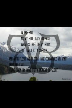 Black veil brides:)  Lyrics To.. In the end