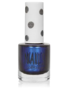Dad got this from London | Topshop Blue on Blue nail varnish