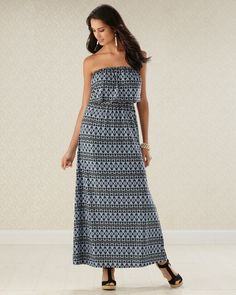 Scrolls Work - Flattering Blouson Maxi Dress #SomaIntimates