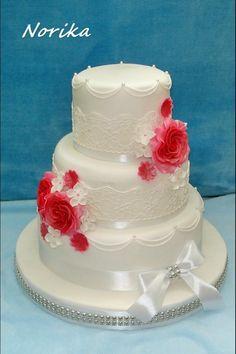 svadobná , svadobné torty | Tortyodmamy.sk Desserts, Food, Designer Birthday Cakes, Bakken, Tailgate Desserts, Deserts, Essen, Postres, Meals