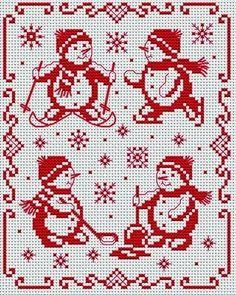 Вышивка крестом / Cross stitch : Монохромная вышивка к Новому году