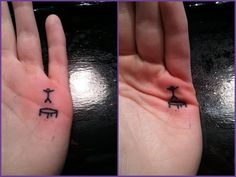 Absolutely hilarious! Draw this stick figure and trampoline on your child's hand, and keep them busy for hours.