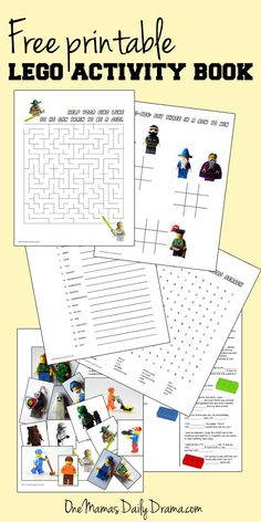 Free printable LEGO activity book | One Mama's Daily Drama --- Puzzles, games, & fun LEGO activities for kids.
