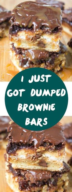 or I'll call them I just failed a test brownie bars. A sinful five-layer brownie bar recipe: chocolate chip cookie dough, golden Oreos, fudgy brownies, chocolate ganache, and caramel sauce drizzled on top. Smores Dessert, Bon Dessert, Dessert Bars, 13 Desserts, Delicious Desserts, Yummy Food, I Just Got Dumped Brownie Bars, Brownie Recipes, Cookie Recipes