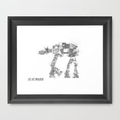 Star+Wars+Vehicle+AT-AT+Walker+Framed+Art+Print+by+Nicholas+Hyde+-+$35.00