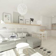 Livings de estilo escandinavo por 4ma projekt
