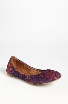 Lucky Brand 'Erla' Flat available at #Nordstrom. Navy, purple & coral.