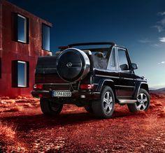 Convertible version of Mercedes-Benz G-Class or G-Wagen (short for Geländewagen )
