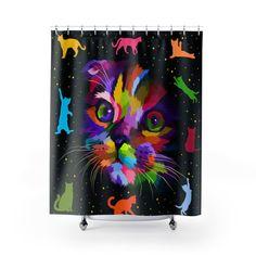 Voici ce que je viens d Sphynx, Sculptures, Curtains, Shower, Etsy, Prints, Cute Kitty, Cat Love, Rain Shower Heads