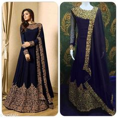 Gowns Heavy Embroidered Georgette Gown's Fabric: Top - Georgette , Bottom - Santoon, Dupatta - Georgette, Inner - Santoon Size: Top (Chest) - Up To 44 in Bottom - 2 Mtr, Dupatta - 2.20 Mtr, Inner - 2 Mtr Length: Top - Up To  38 in To 44 in  Type: Semi - Stitched Description: It Has 1 Piece Of Top, 1 Piece Of Bottom, 1 Piece Of Dupatta Work: Embroidery Work Sizes Available: Un Stitched, Free Size, Semi Stitched   Catalog Rating: ★4.1 (605)  Catalog Name: Ladies Heavy Embroidered Georgette Gown's Vol 1 CatalogID_174970 C79-SC1289 Code: 9511-1358461-